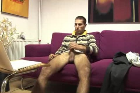 Tommylads large 10-Pounder Sofa jack off And sperm Load