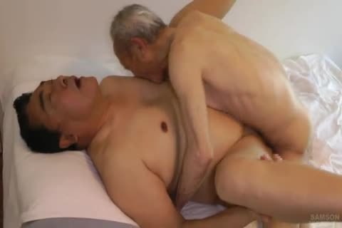 Japanese fat Daddy Sex With huge 10-Pounder grand-dad