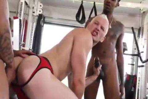 1 delicious Blond Vs two Hungry black fellows