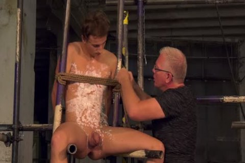 Blindfolded Sub Milked For sperm By His daddy dominant
