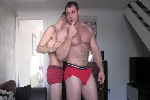 enormous C With His big Muscles Dominate Skinny twink