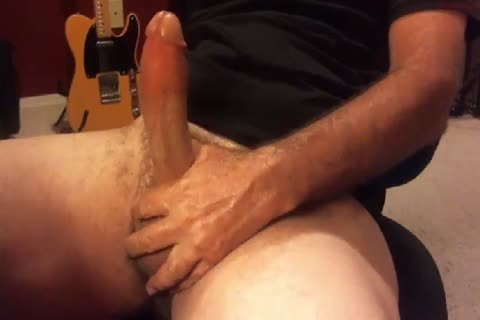 enormous Moaning older man discharges his load