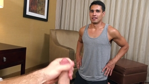 Str8Chaser - Black hair Paul Wagner doggy handjob