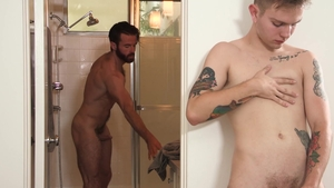 Family Dick: Flirt sex scene with sexy hard Brendan Patrick