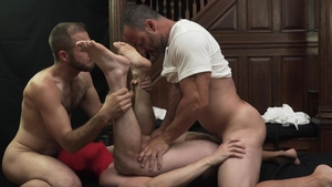 Missionary Boys: Muscle President Lewis striptease porn