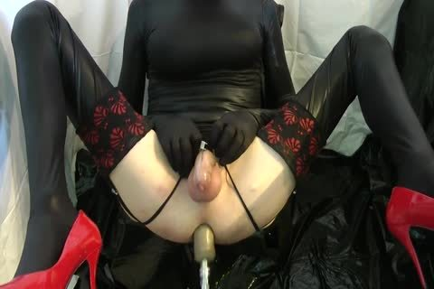 Sissy gets pounded Locked By The Machine
