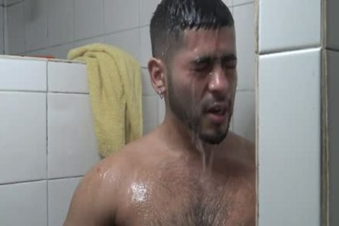 Hung Latino boned In Gym Shower