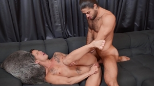 DrillMyHole.com: Nic Sahara & Diego Sans face fucking indoor