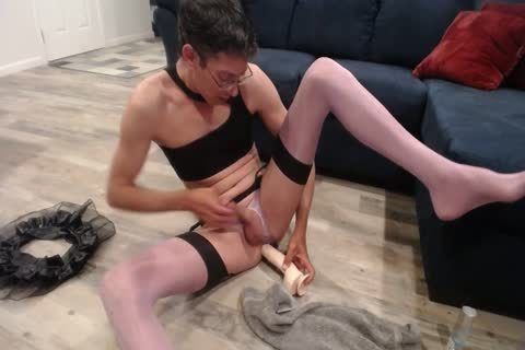 Pantyboy Crossdresser Cd Sissy hooker fake penis poke Atm Eat cum