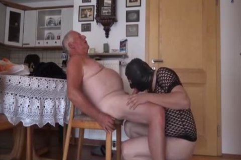 Super ravishing grandad And Masked Unusual lad engulf And plow On