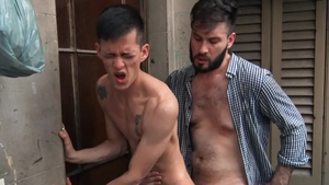 Reality Dudes - Very slim Andres & Diego bareback blowjob cum