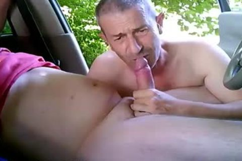 lewd homosexual dudes On Car Have Some Public And Outdoor Sex
