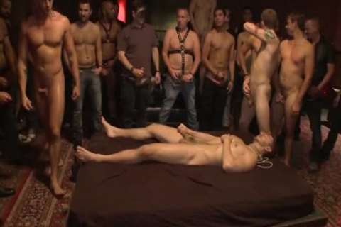 tied Up And hammered In Front Of 100 lustful men