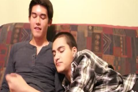 Hispanic twink And asian twink oral-sex And sex cream drinking