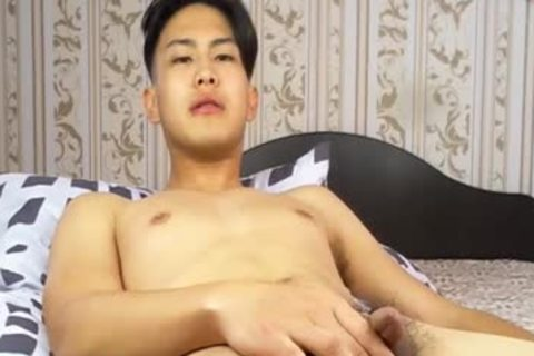 dirty Korean lad Tugging small 10-Pounder And Shotting Loads Of cum