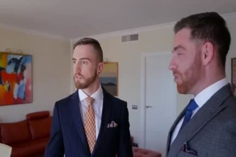 gay Suit blowjob And butt
