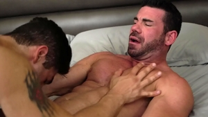 Icon Male - Gay Lucas Leon blowjob cum video in HD