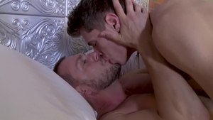IconMale - DILF Hans Berlin together with Troy Accola rimjob