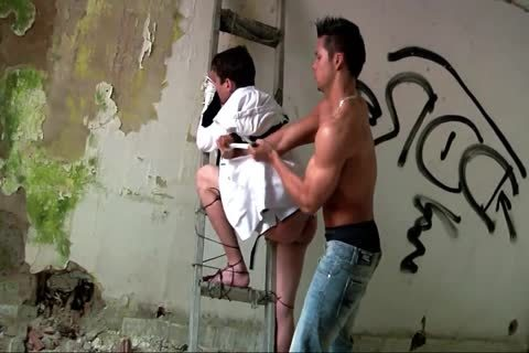 teen acquires tied Up Spanked In An Abandoned Building