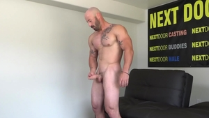 Next Door Casting - Gay Max King II touches big cock