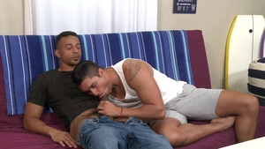 Dylan Lucas: Athletic Adrian Suarez uncover huge dick