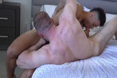 Alpha Male Bryce Goes submissive For Channing's large dick