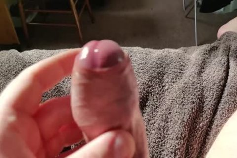 Verbal Moaning Uncut Daddy Edging cock And Spraying giant Load Of love juice