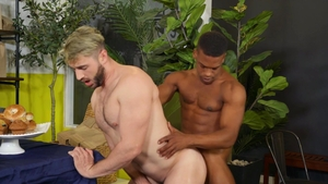 DrillMyHole: Muscle huge dick Adrian Hart anal interracial