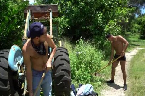 Naught Farmers Jay Seabrook & Tim Hanes receive Sweaty Doing Some Outdoor Work