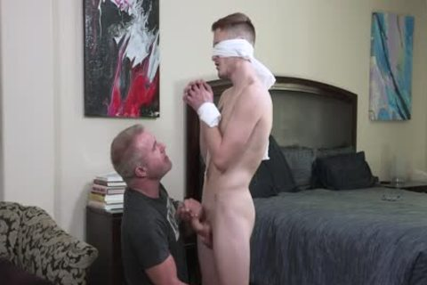 excited Stepdad Ties And Blindfolds Stepson Josh Cannon